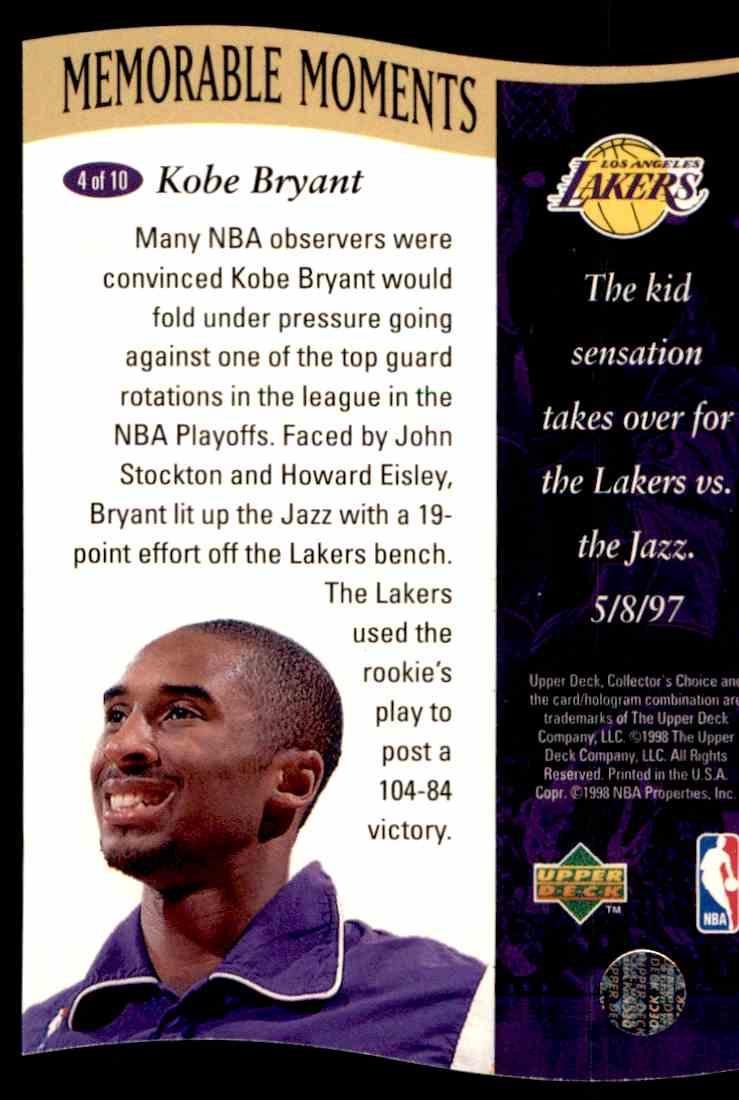 1998-99 Upper Deck Kobe Bryant #4 card front image