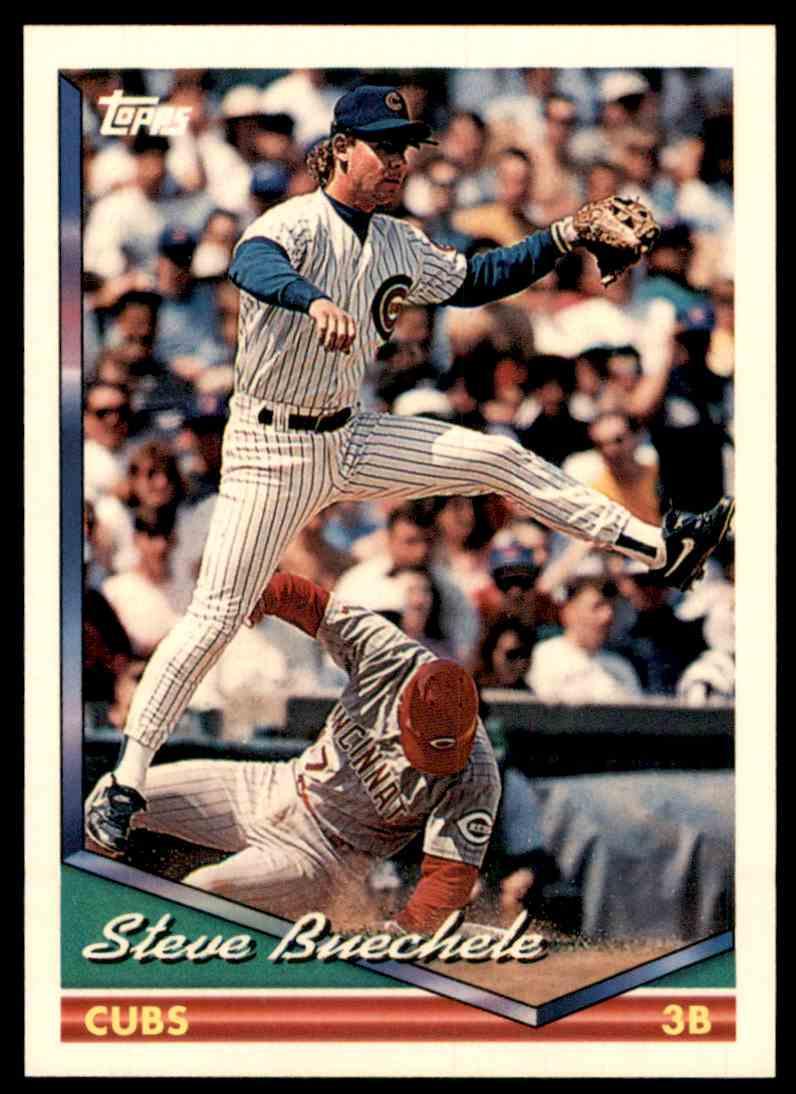 1994 Topps Steve Buechele #666 card front image