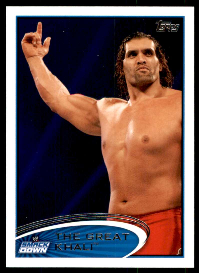 2012 Topps Wwe The Great Khali #28 card front image