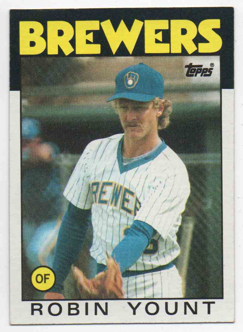 1986 Topps Robin Yount #780 card front image