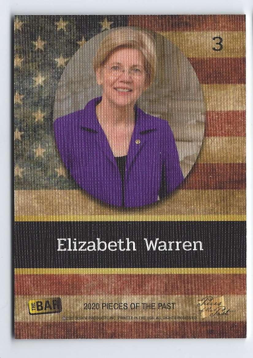2020 Pieces Of The Past Elizabeth Warren #3 card back image
