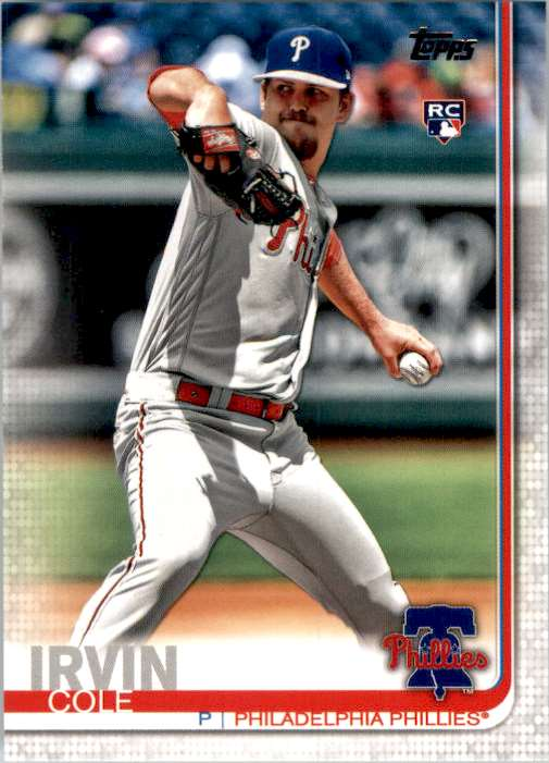 2019 Topps Update Cole Irvin RC #US108 card front image