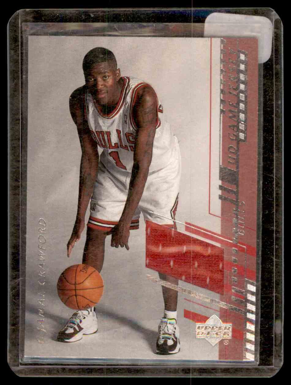 2000-01 Upper Deck Game Jerseys Jamal Crawford #JCH card front image