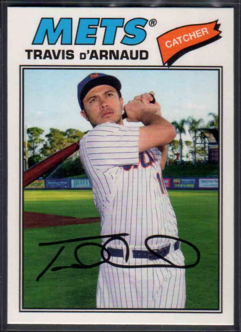 2018 Topps Archives Travis D'arnaud #158 card front image