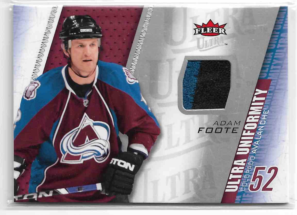 2009-10 Fleer Ultra Ultra Uniformity Adam Foote #UU-AF card front image