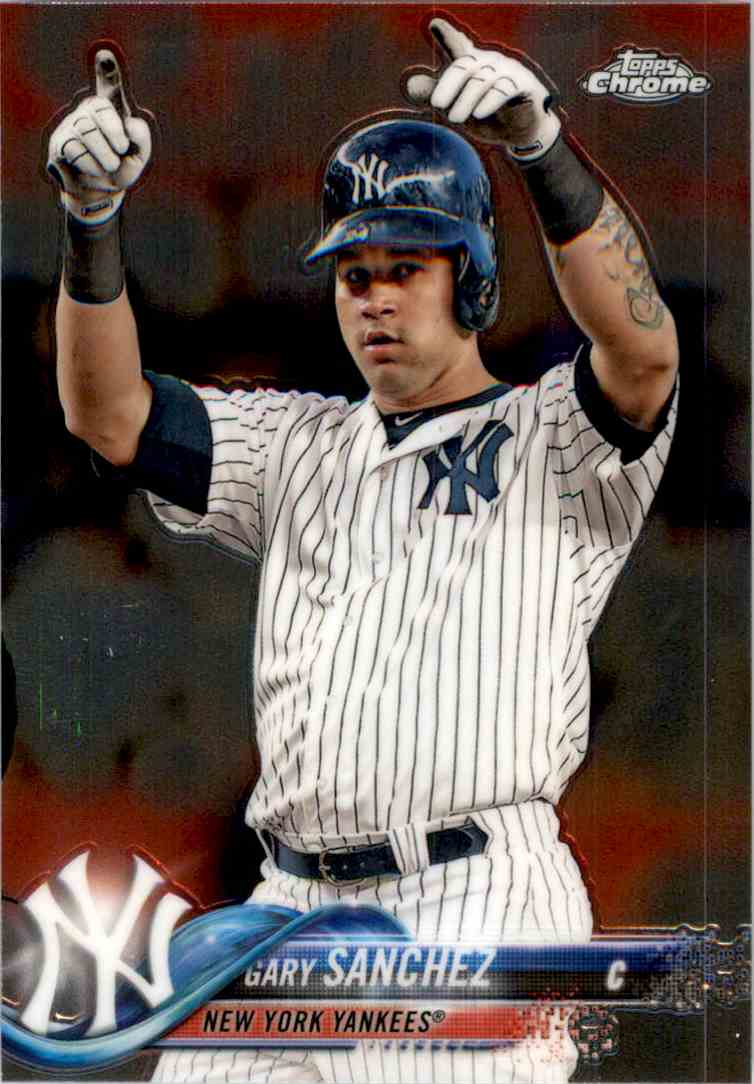 2018 Topps Chrome Gary Sanchez #182 card front image
