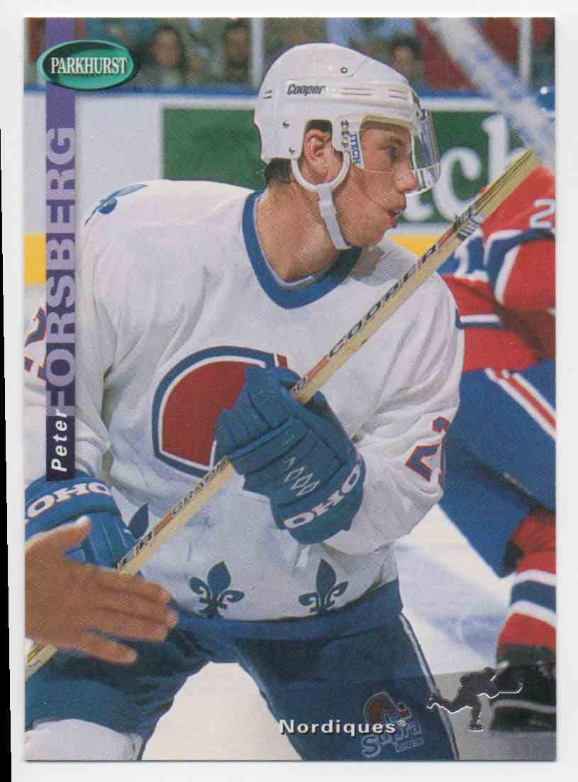 1994-95 Parkhurst Se Peter Forsberg #SE149 card front image