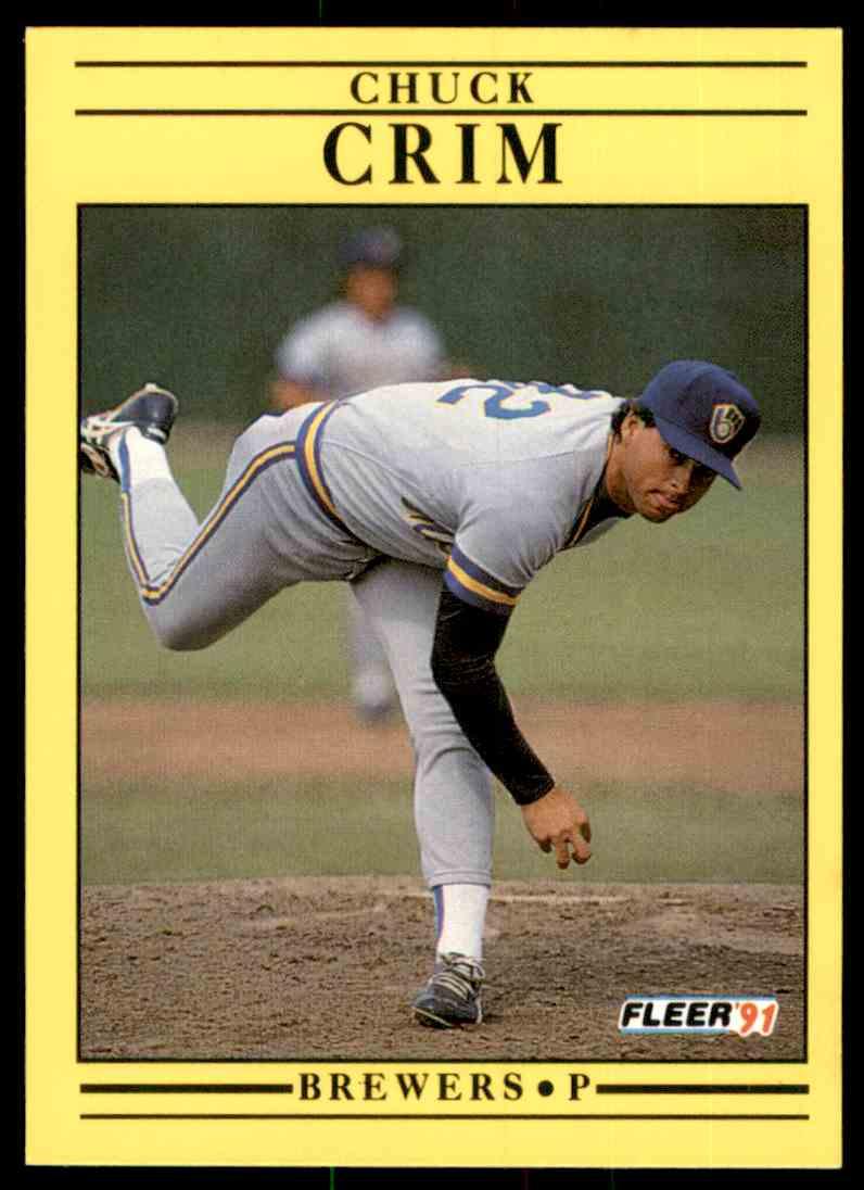 1991 Fleer Chuck Crim #579 card front image