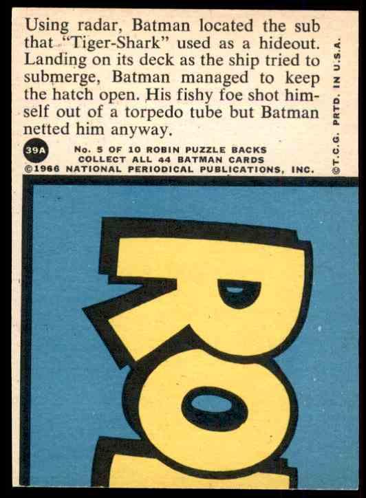 1966 Batman Red Bat Stopping The Sub #39A on Kronozio