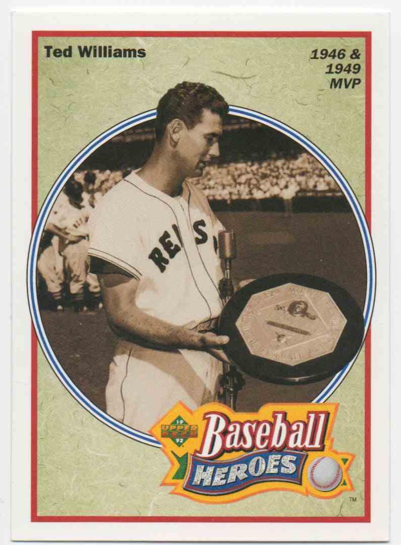 1992 Upper Deck Baseball Heroes Ted Williams 31 On Kronozio