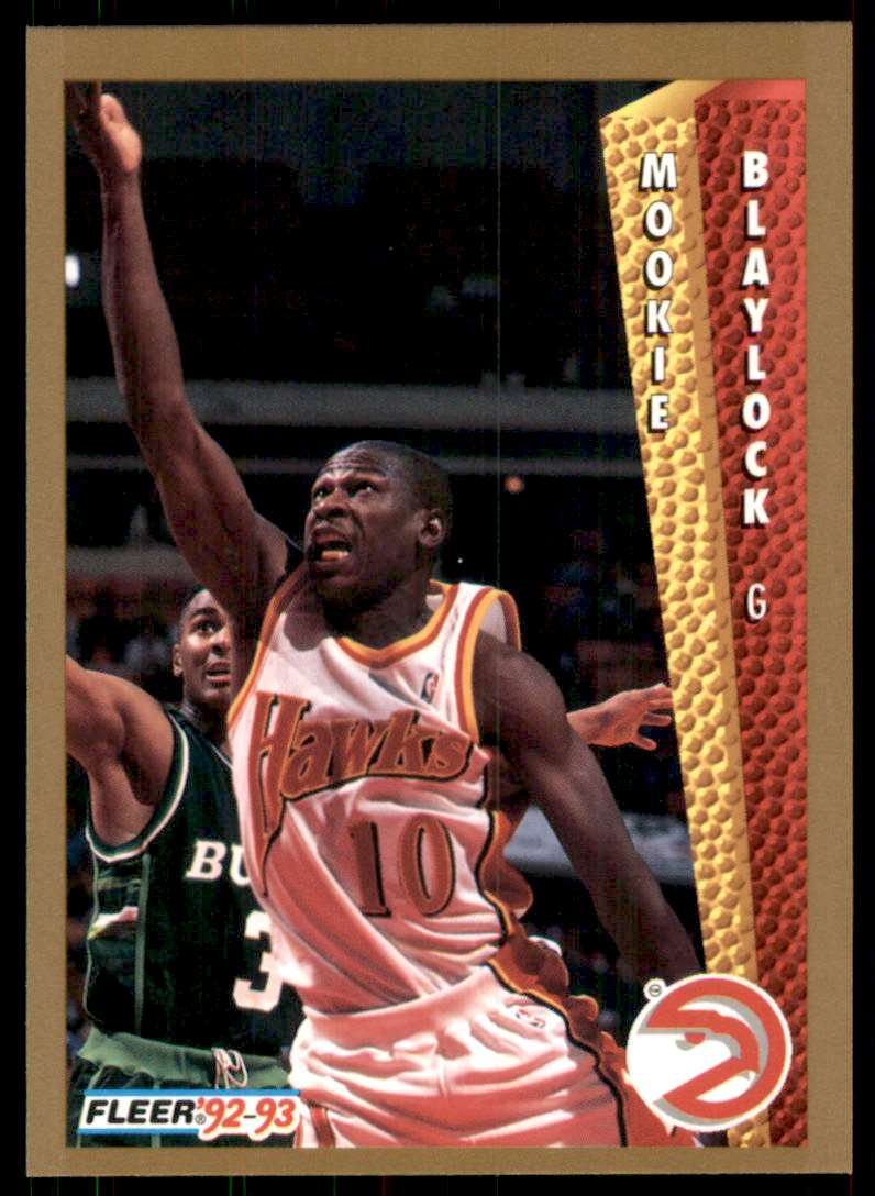 1992-93 Fleer Mookie Blaylock #301 card front image