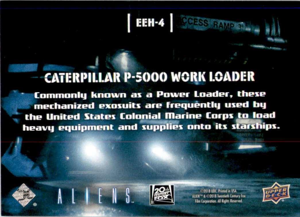 2018 Aliens Look Into My Eye Aterpillar P5000 Work Loader #EEH4 card back image