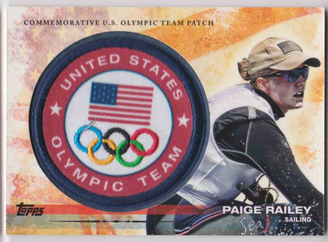 2012 Topps Commemorative U.S. Olympic Team Patch Paige Railey #ULP-PR card front image