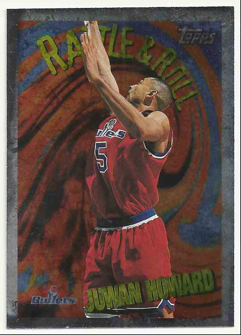 1996-97 Topps Rattle And Roll Juwan Howard #1 card front image