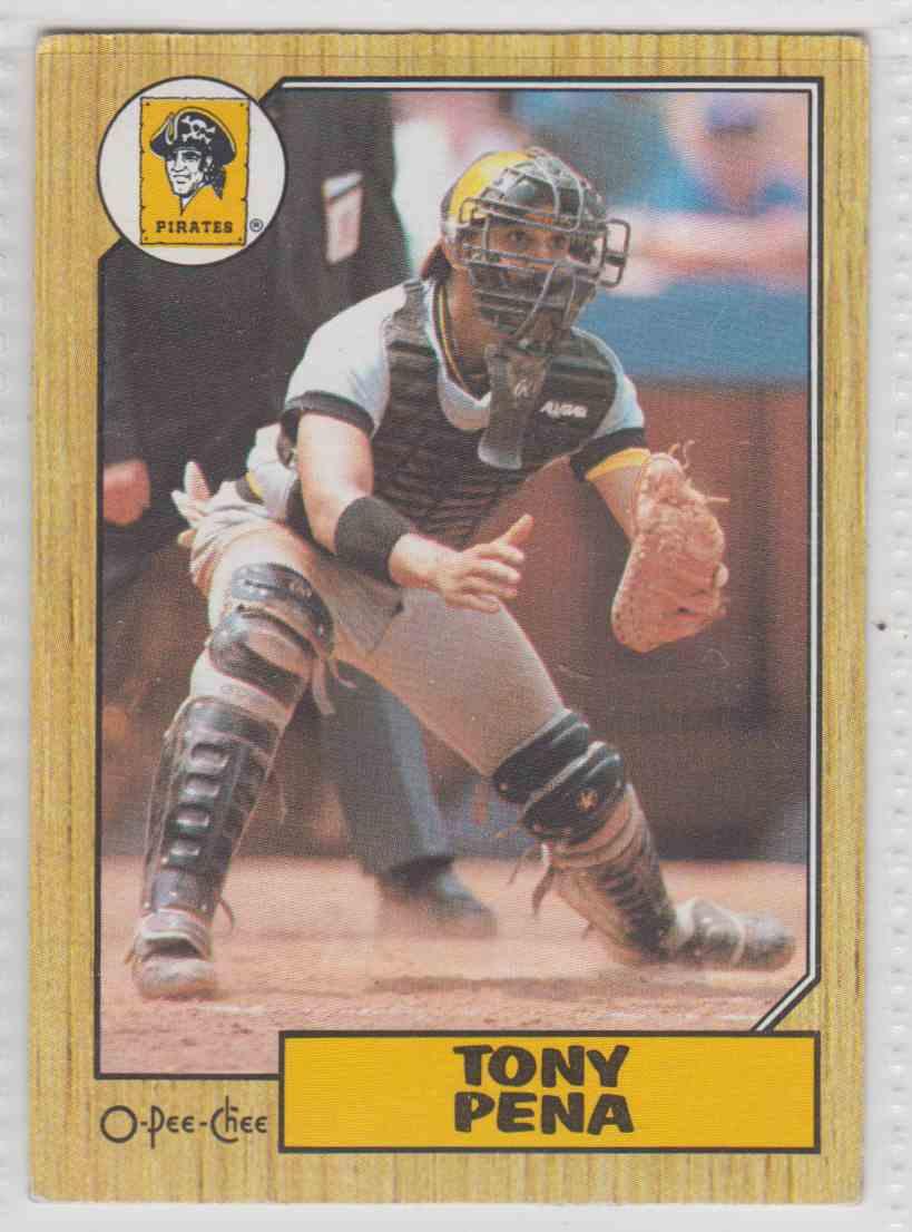 1987 O-Pee-Chee Tony Pena #60 card front image