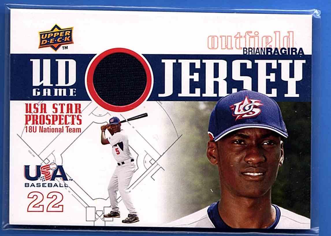 2009 Upper Deck Signature Stars USA Star Prospects Jerseys Brian Ragira #GJU14 card front image