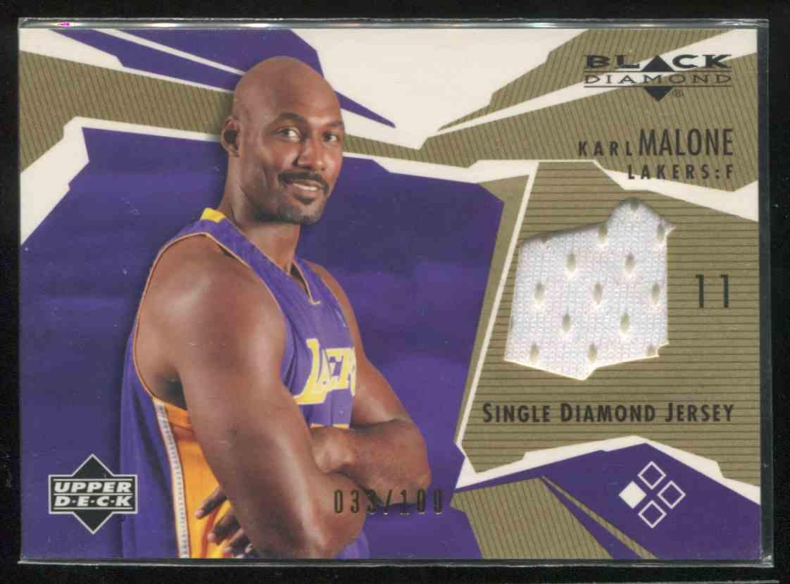 super popular 248ad 10b3c 2003-04 Black Diamond Jerseys Gold Karl Malone #BD-KM ...