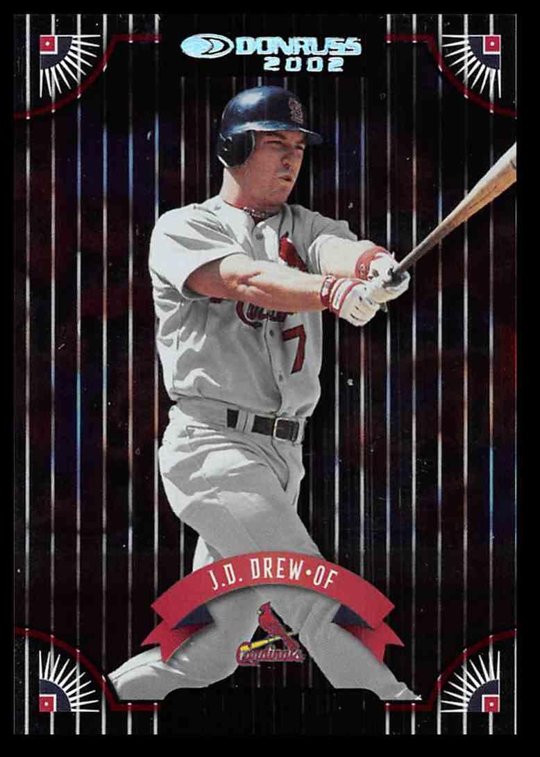 2002 Donruss Stat Line Career J.D. Drew #136 card front image