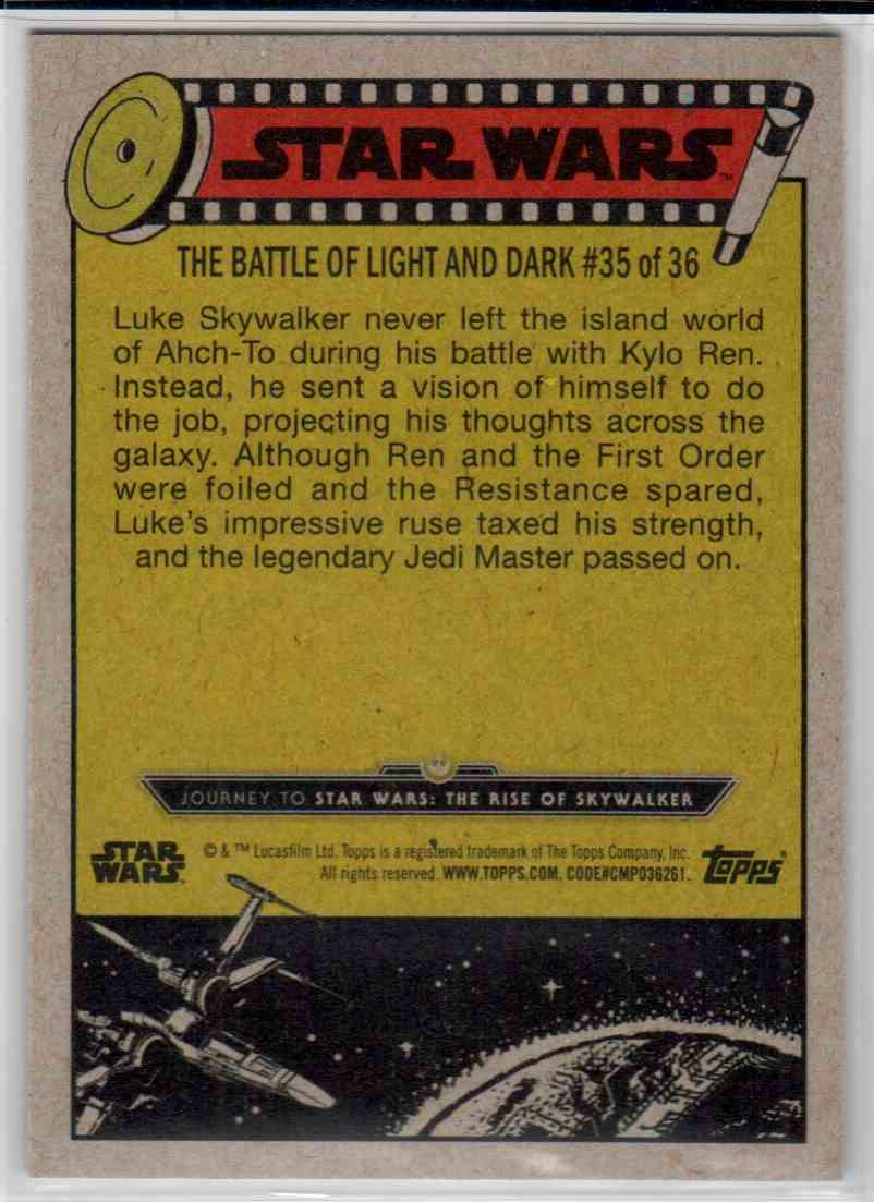 2019 Topps Star Wars Journey To Rise Of Skywalker The Great Ruse Of Luke Skywalker #89 card back image
