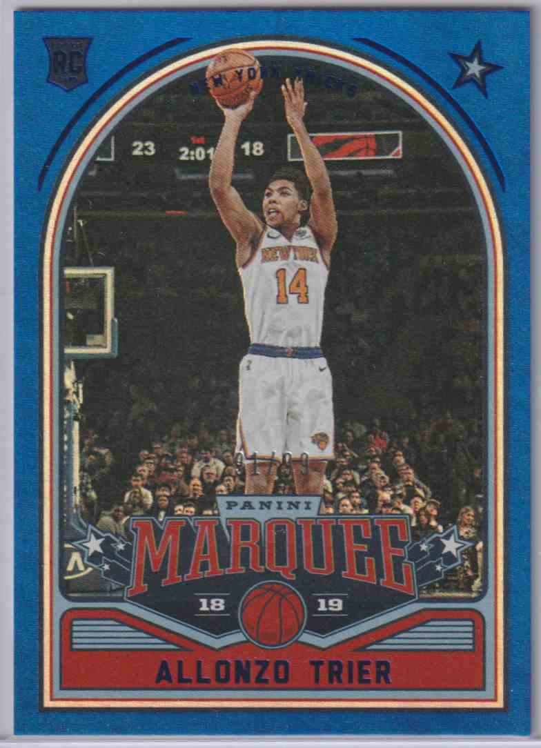 2018-19 Panini Chronicles Marquee Rookies Blue Alonzo Trier #241 card front image