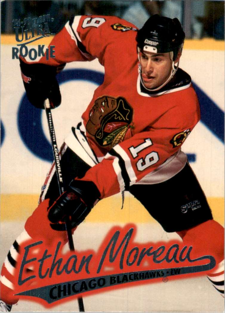 1996-97 Ultra Ethan Moreau RC #32 card front image