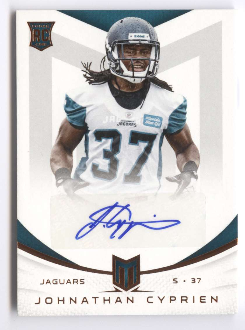2013 Panini Momentum Rookie Signatures Johnathan Cyprien #115 card front image