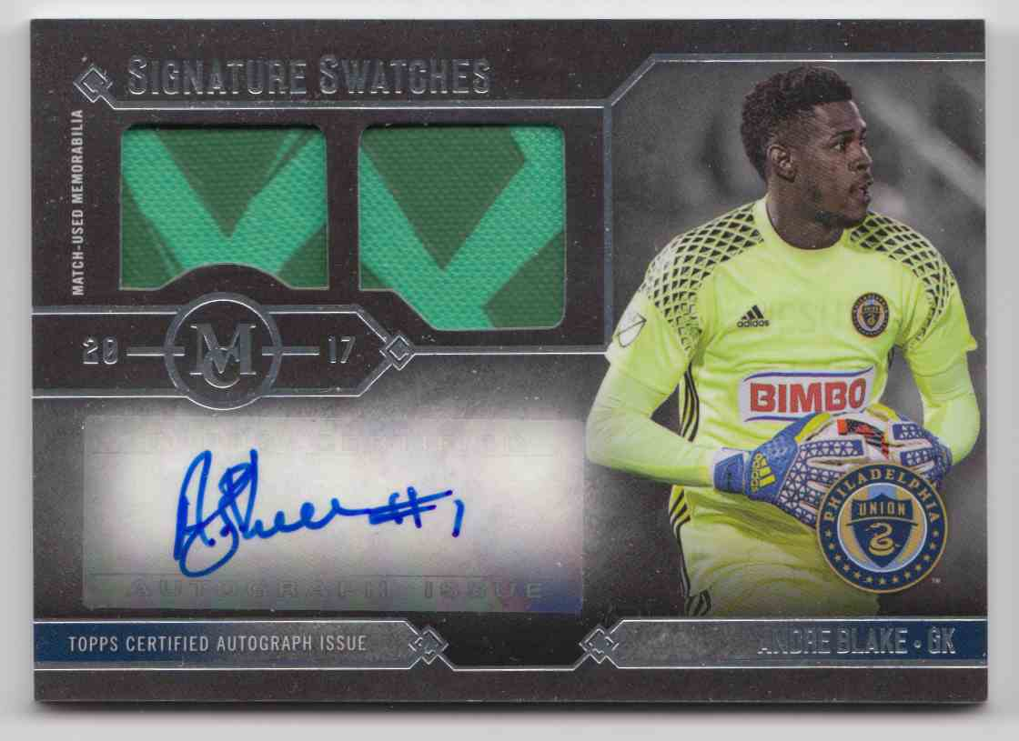 2017 Topps MLS Museum Collection Andre Blake #MCAR-AB card front image