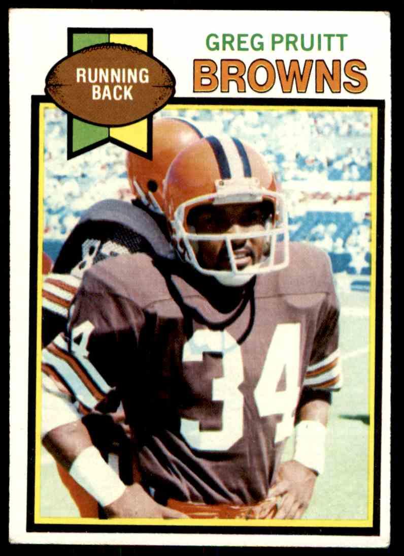 1979 Topps Greg Pruitt #455 card front image