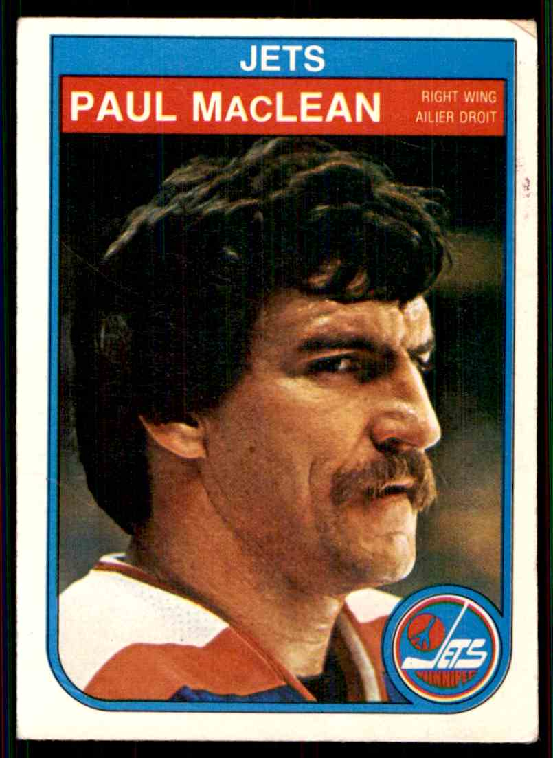 1982-83 O-Pee-Chee Paul MacLean #386 card front image