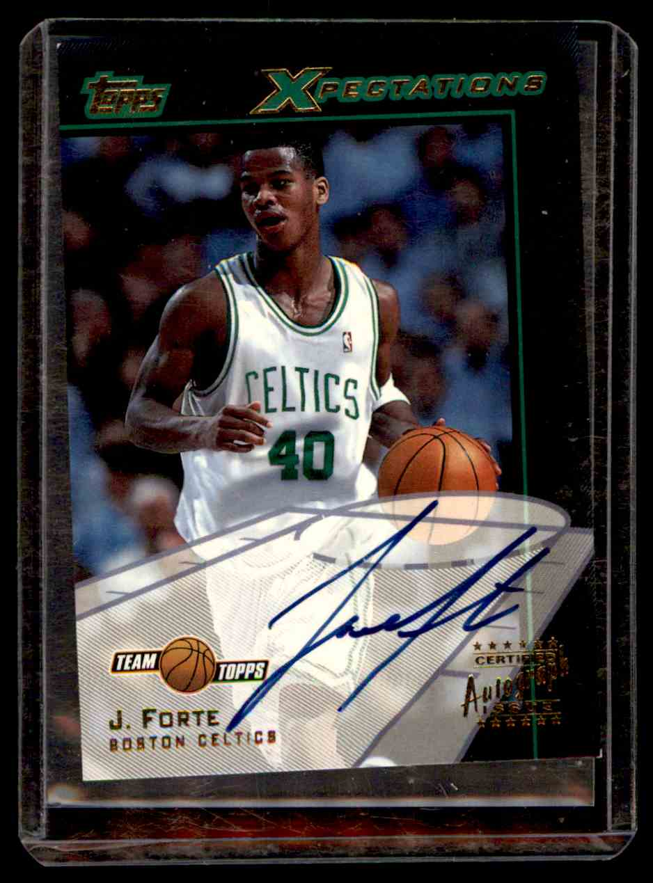 2001-02 Topps Xpectations Autographs Joseph Forte #TXAJF card front image