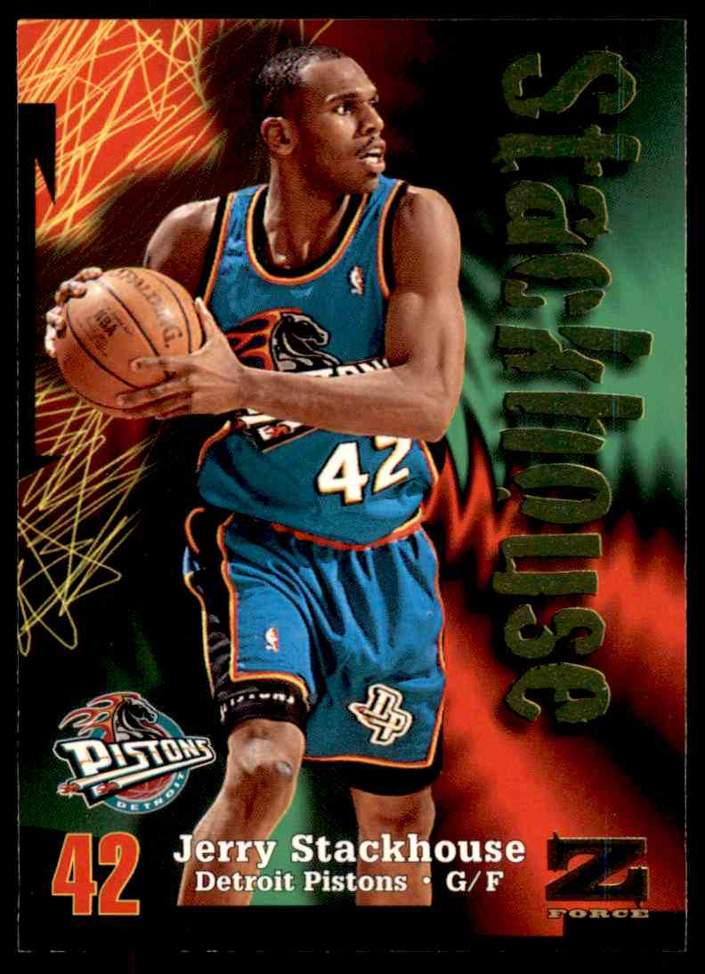 1997-98 Skybox Z Force Jerry Stackhouse #168 card front image