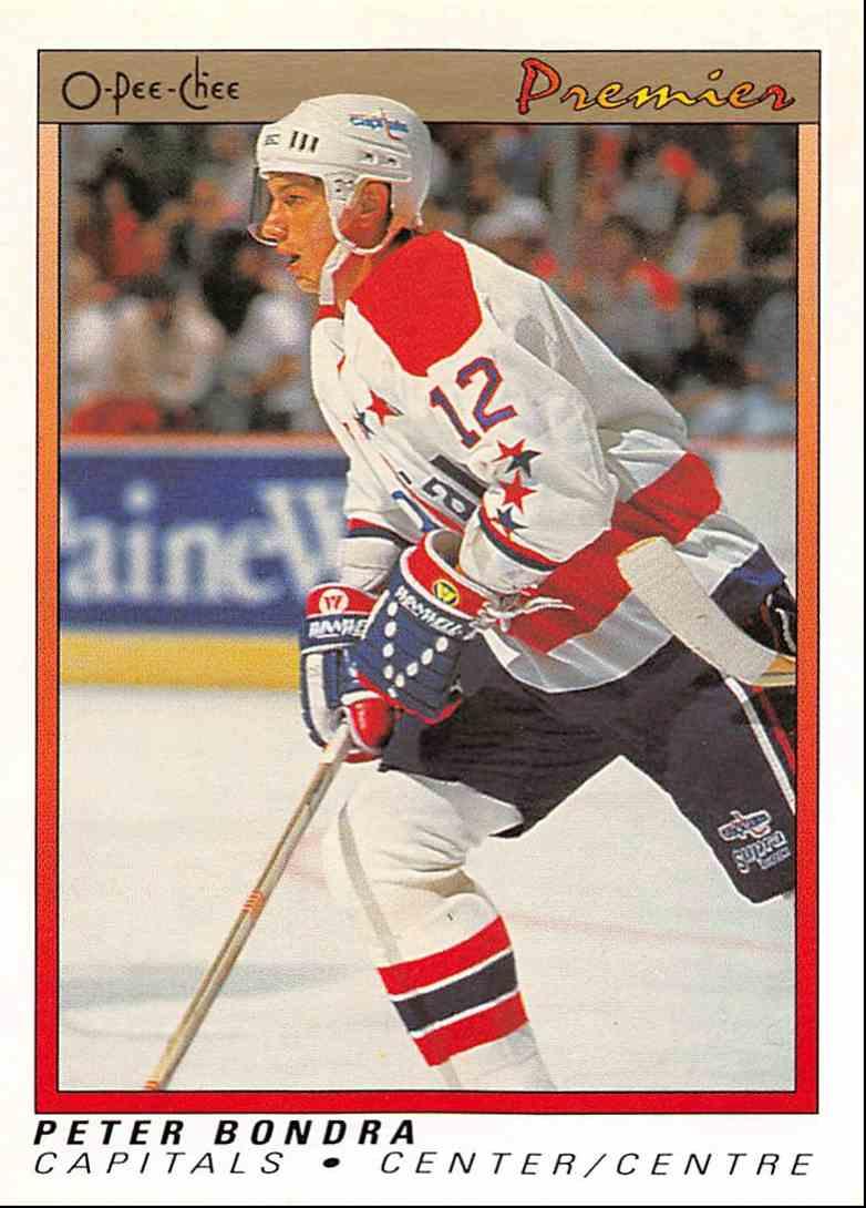 1990-91 O-Pee-Chee Premier Peter Bondra #7 card front image