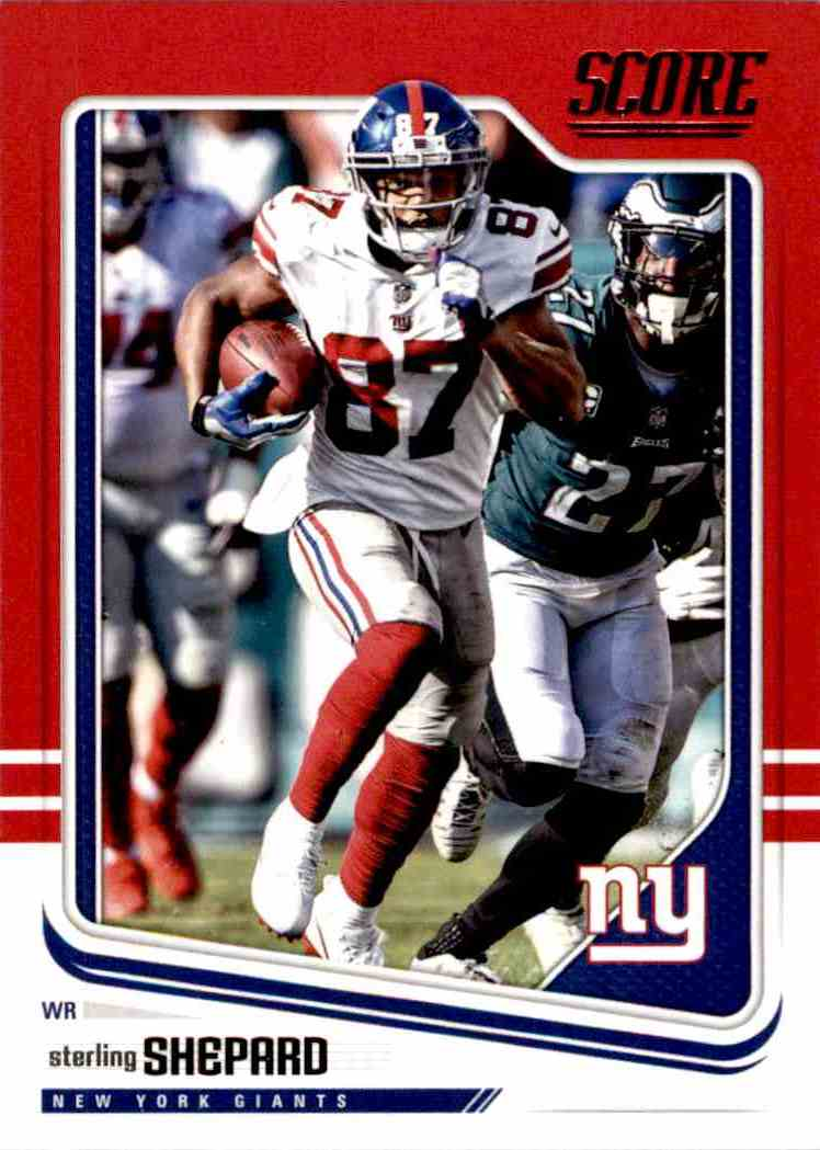 2018 Panini Score Red Parallel Sterling Shepard #230 card front image