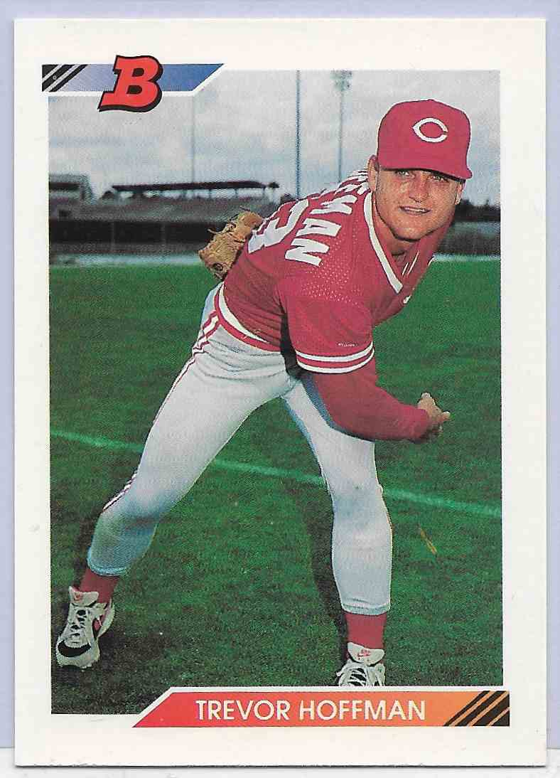 1992 Bowman Trevor Hoffman #11 card front image