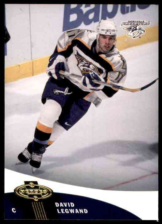 2000-01 Upper Deck Heroes David Legwand #68 card front image