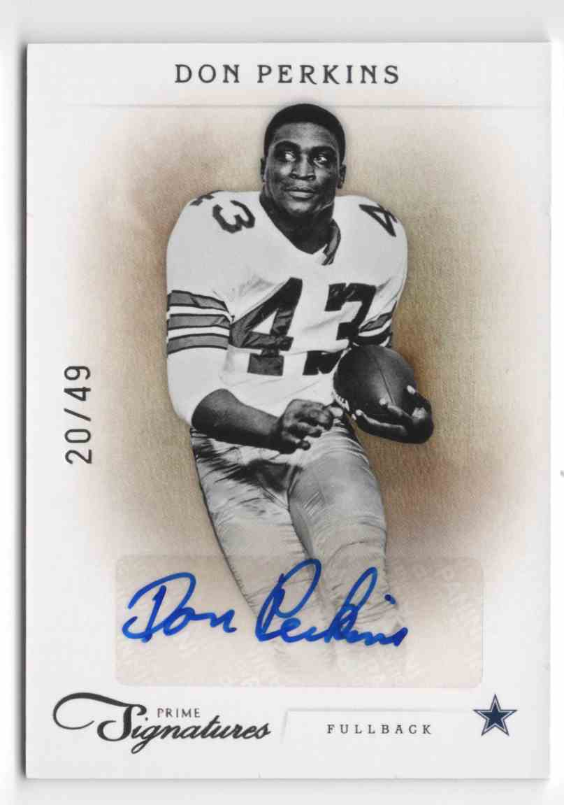 2011 Prime Signatures Autographs Silver Don Perkins #53 card front image