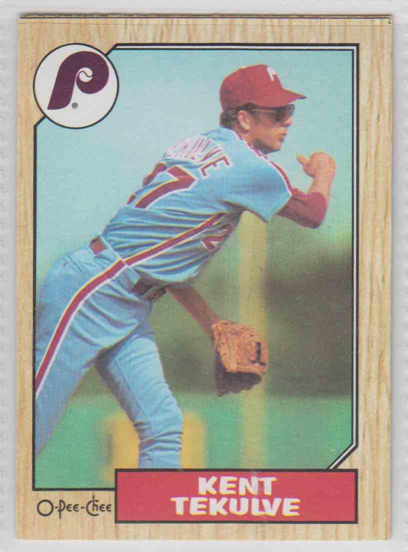 1987 O-Pee-Chee Kent Tekulve #86 card front image