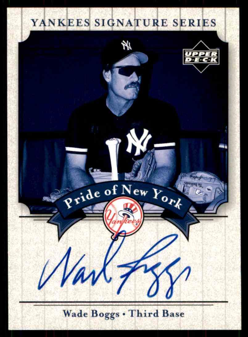 2003 Upper Deck Yankees Siganture Series Wade Boggs card front image