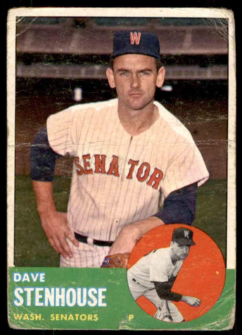 1963 Topps Dave Stenhouse #263 card front image