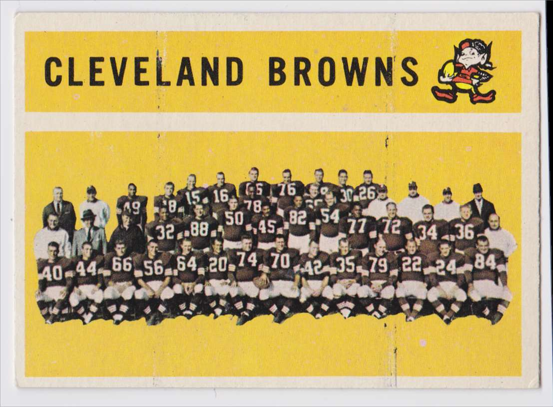 1960 Topps Browns Team #31 card front image