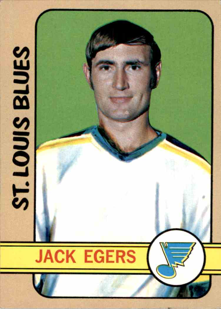 1972-73 Topps Jack Egers #147 card front image