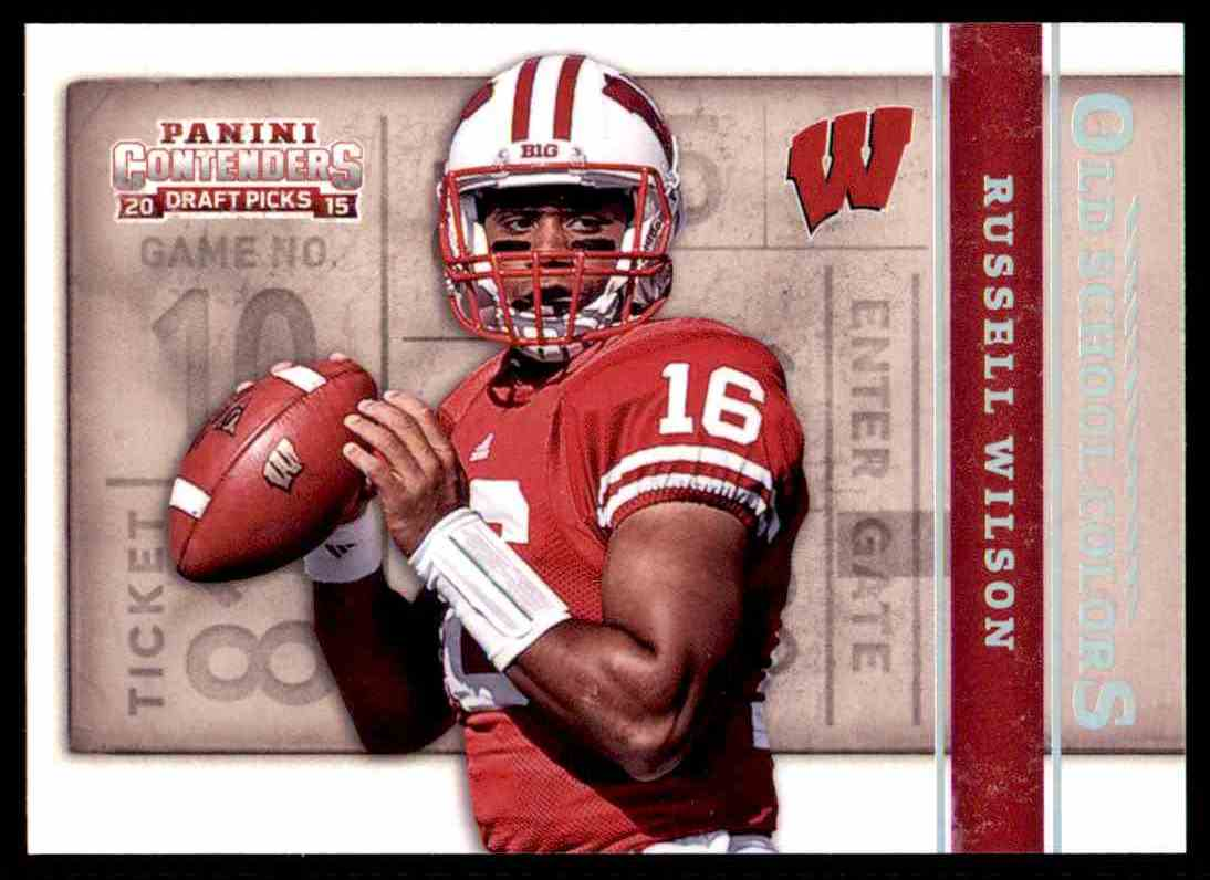 separation shoes f780b 1de40 2015 Contenders Draft Picks Old School Colors Russell Wilson