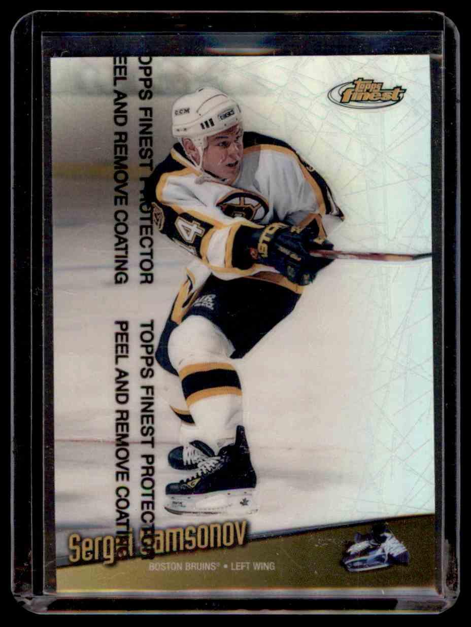 1998-99 Finest Refractor Sergei Samsonov #48 card front image