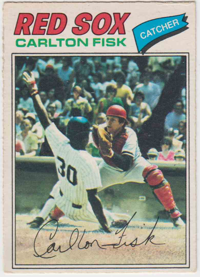 1977 O-Pee-Chee Carlton Fisk #137 card front image