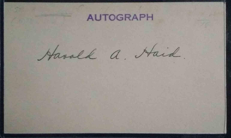 1919 3X5 Hal Haid card back image