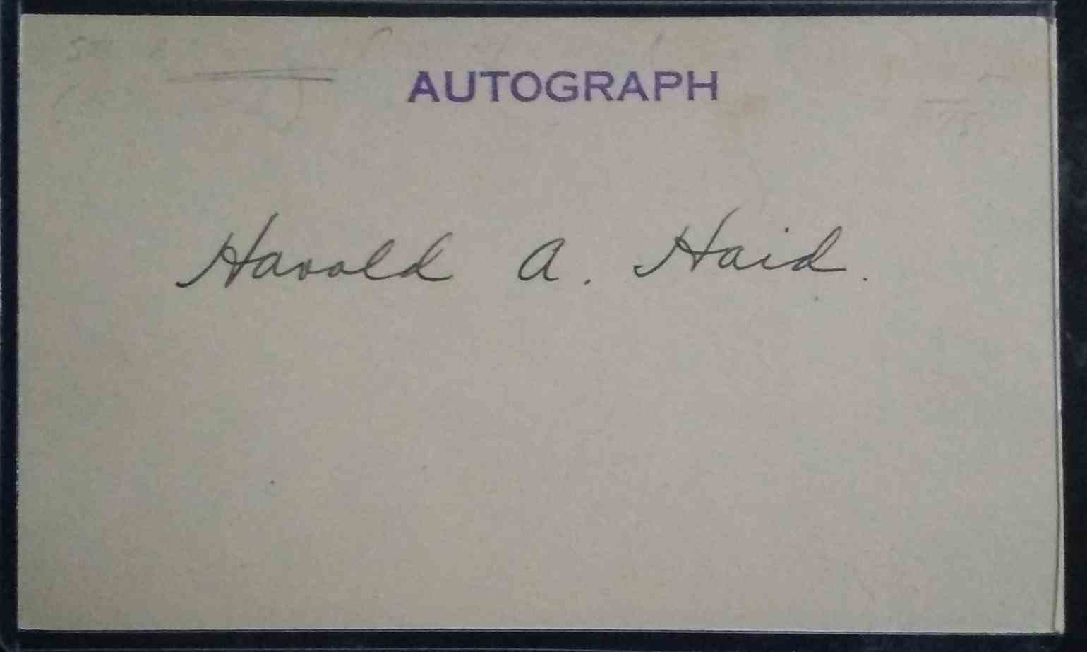 1919 3X5 Hal Haid card front image
