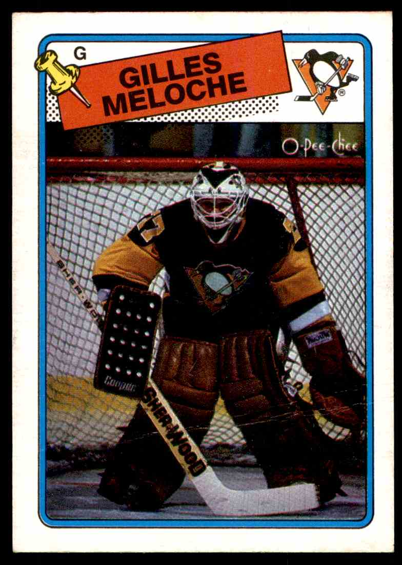 1988-89 O-Pee-Chee Gilles Meloche #8 card front image