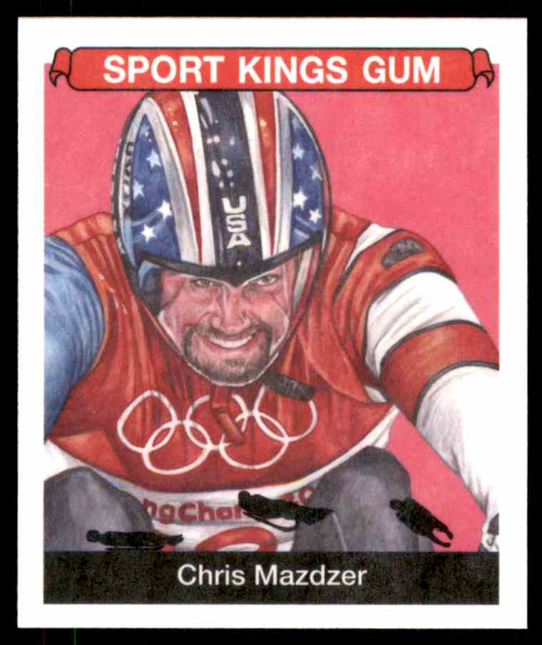 2018 Sportkings Black Back Retail Mini Chris Mazdzer #39 card front image
