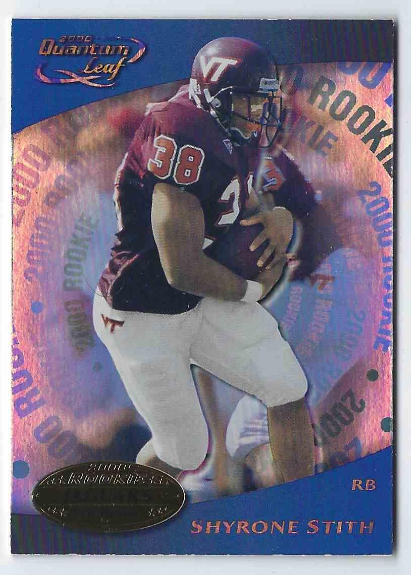 2000 Quantum Leaf Shyrone Stith RC #339 card front image