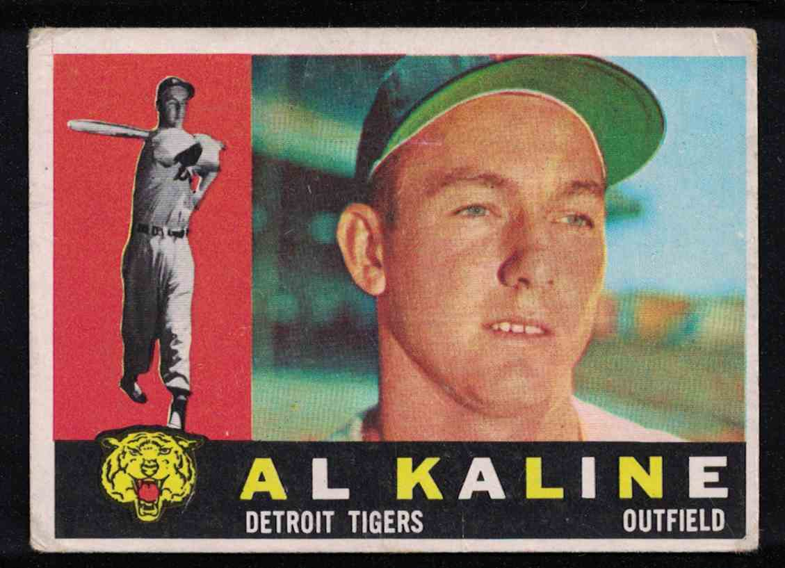 1960 Topps Al Kaline F-G Small crease #50 card front image